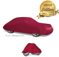 Auto-Pyjama® Cotton Indoor Car Cover in bordeaux red, 100% Cotton